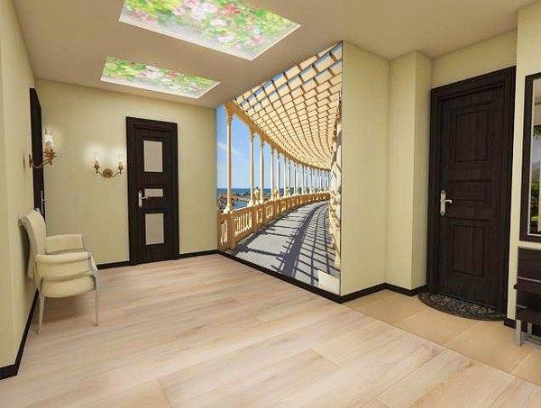 фотообои для коридора расширяющие пространство фото