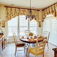красивые ламбрекены на кухню фото 22