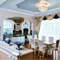 красивые ламбрекены на кухню фото 25