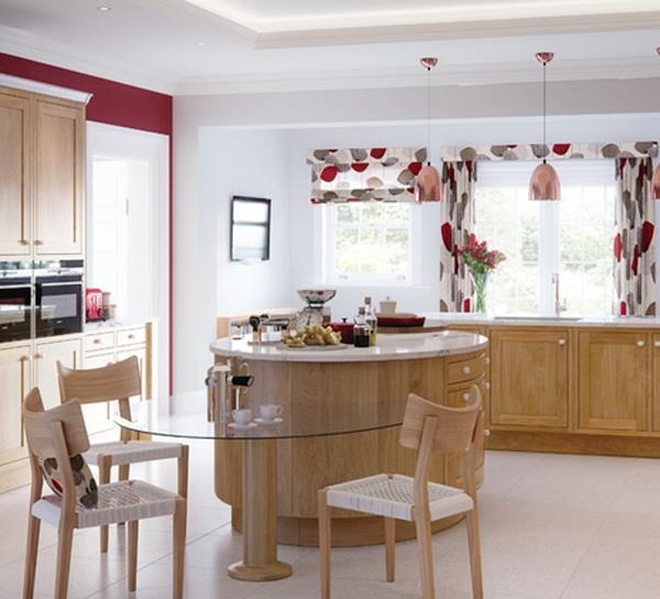 красивые ламбрекены на кухню фото 3