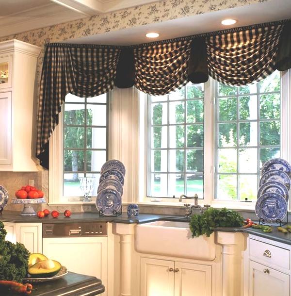 шторы на кухню с ламбрекеном фото 7