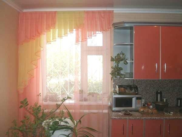 красивые ламбрекены на кухню фото