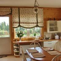 римская штора на кухню фото 10