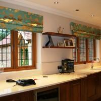 римская штора на кухню фото 11