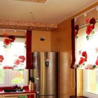 римская штора на кухню фото 12