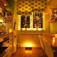 римская штора на кухню фото 17
