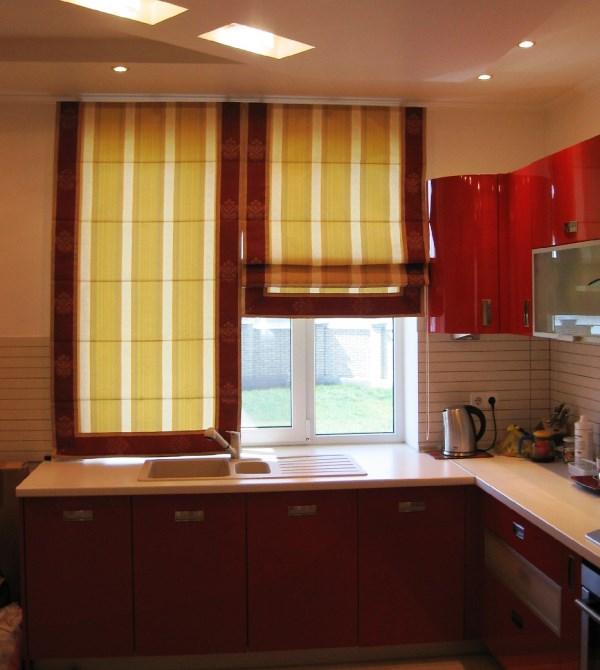римская штора на кухню фото 2