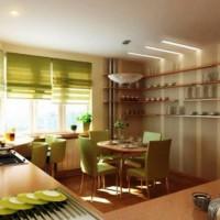 римская штора на кухню фото 23