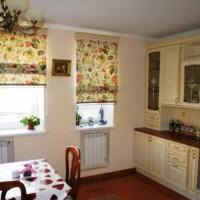 римская штора на кухню фото 3