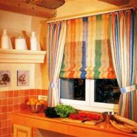 римская штора на кухню фото 35