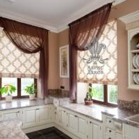 римская штора на кухню фото 37