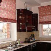 римская штора на кухню фото 39