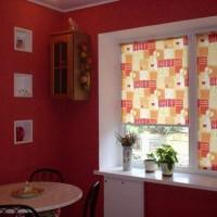 римская штора на кухню фото 6