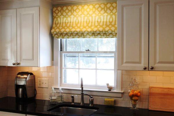 римская штора на кухню фото 7