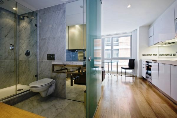 дизайн интерьера однокомнатной квартиры-студии фото 13