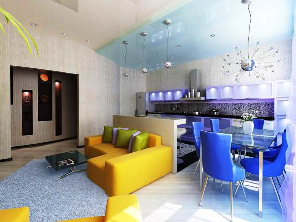 дизайн интерьера однокомнатной квартиры студии фото 3