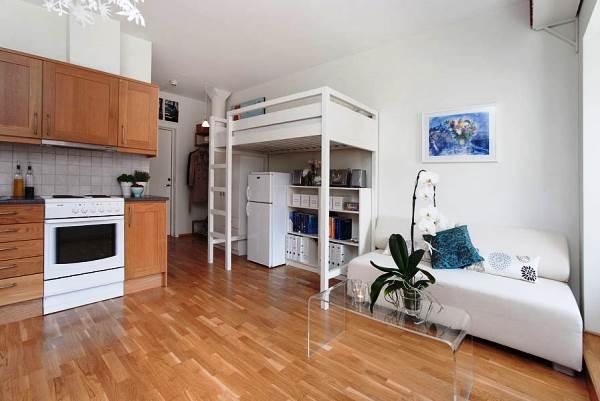 дизайн интерьера однокомнатной квартиры студии фото 7