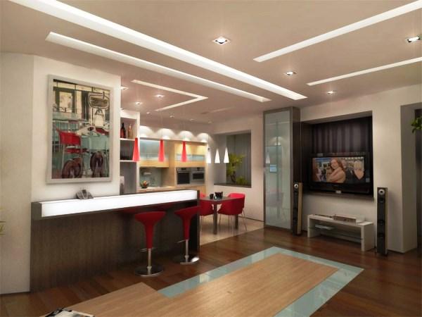 дизайн интерьера однокомнатной квартиры студии фото 9