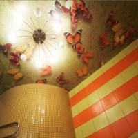 натяжные потолки в ванной фото 13
