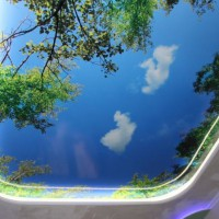 натяжные потолки в ванной фото 14