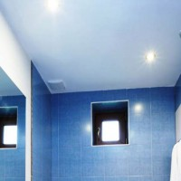 натяжные потолки в ванной фото 19