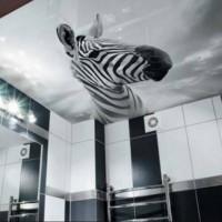 натяжные потолки в ванной фото 28