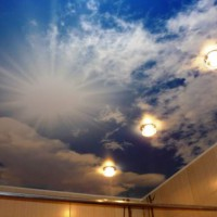 натяжные потолки в ванной фото 30
