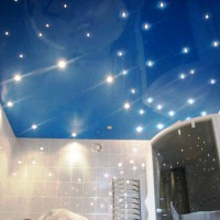 натяжные потолки в ванной фото 5