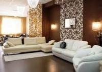 обои для зала в квартире комбинированные фото