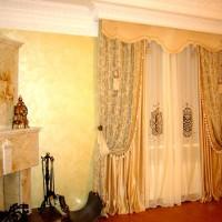 портьеры в гостиную фото 33