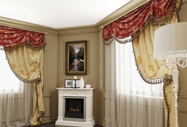 портьеры в гостиную фото 7