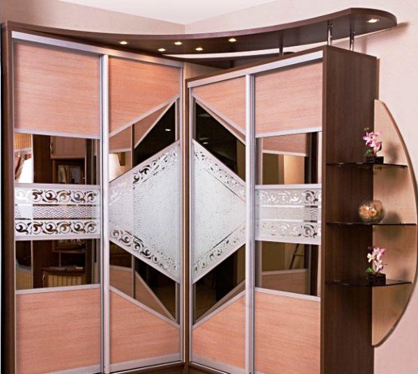 угловые шкафы купе в спальню дизайн фото 3