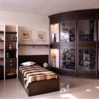 угловые шкафы купе в спальню дизайн фото 9