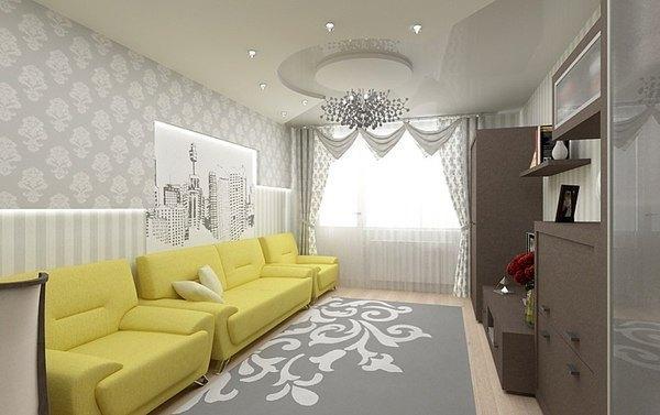 стильные портьеры для гостиной фото