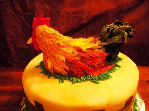 торт с петухом фото