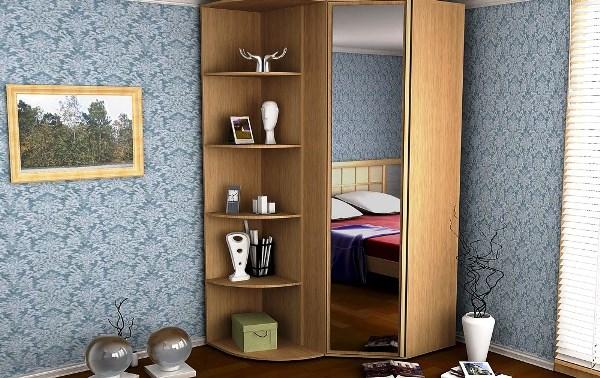 угловой шкаф купе в спальню наполнение фото