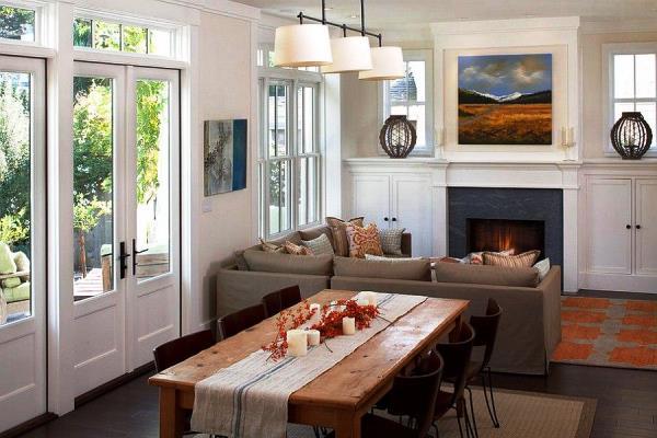 дизайн маленькой кухни совмещенной с гостиной фото