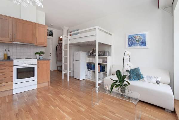 дизайн маленькой квартиры студии 25 кв м фото