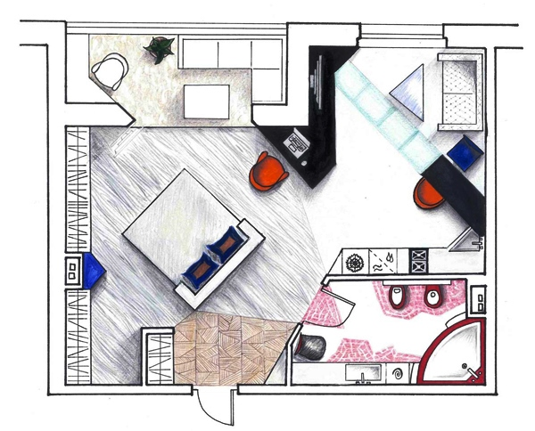 как выглядит квартира студия фото