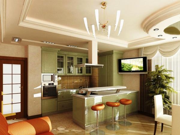 кухня студия в маленькой квартире фото