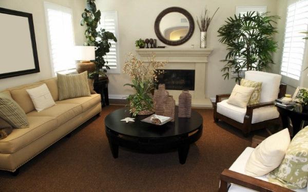 мебель для гостиной в современном стиле фото с камином