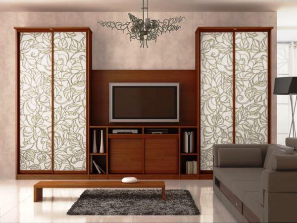 мебель для гостиной в современном стиле со шкафом купе фото