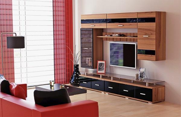 модульные стенки для гостиной фото 10