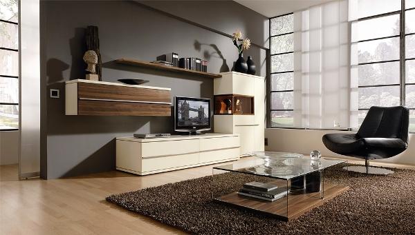 современная мебель в гостиную комнату фото