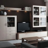 стенка в гостиной модульная в современном стиле фото 11