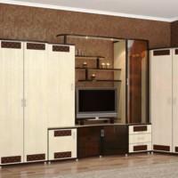 стенка в гостиной модульная в современном стиле фото 16