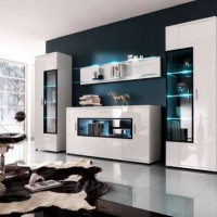 стенка в гостиной модульная в современном стиле фото 24
