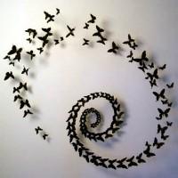 бумажные бабочки на стене своими руками фото 13
