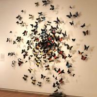 бумажные бабочки на стене своими руками фото 21