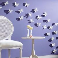 бумажные бабочки на стене своими руками фото 36